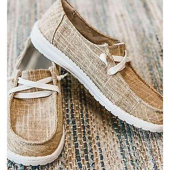 الخريف تنفس عارضة الدانتيل حتى الطلاب فتاة Flats أحذية الموضة