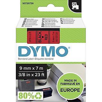 Etikettering tape DYMO D1 40917 Tape kleur: rood lettertype kleur: zwart 9 mm 7 m