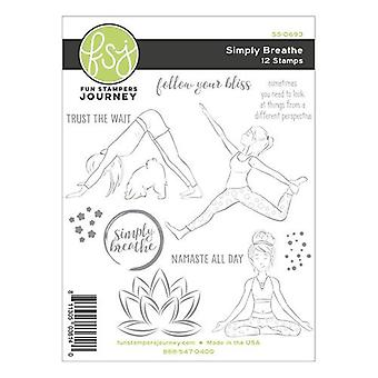 Fun Stampers Journey Simply Breathe Set Clear Stamps