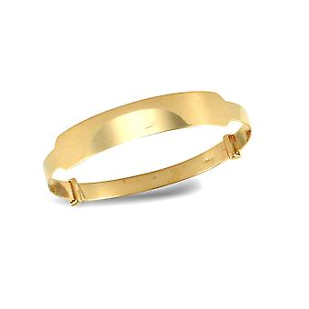 Jewelco London Baby Solid 9ct Yellow Gold Diamond Cut ID 4mm Expanding Bangle Bracelet
