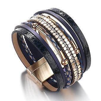 Snakeskin Pattern Leather Bracelets