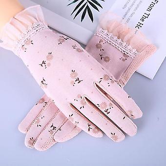 Womenăs Mănuși de vară de conducere, antiderapante, Bloc Uv, Touch Screen Cotton