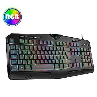 "Gaming keyboard uk""Äêrgb & 25-key anti-ghosting""Äëvictsing usb wired keyboard with 8 independent mul"