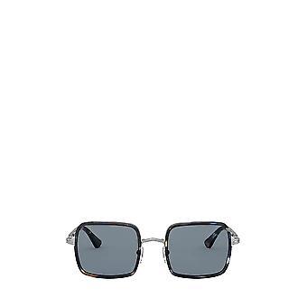 Persol PO2475S gunmetal & blue grid unisex sunglasses