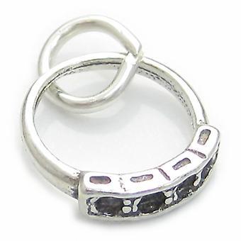 Pierścionek Sterling Silver Charm .925 X 1 Zaręczyny Obrączki Eternity Rings - 3240
