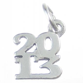 2013 Year Sterling Silver Charm .925 X 1 Years Graduation Birthday Charms - 4190