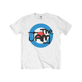 The Jam Kids T Shirt Spray Target Band Logo new Official White Ages 1 -12 yrs