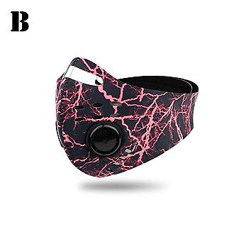 Geactiveerde Carbon Mask Cycling Face Maskers Mannen Vrouwen Filter Face Carbon Fiets