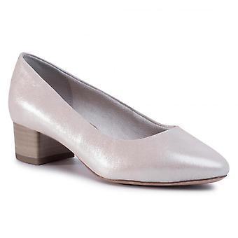 Scarpe con tacco basso argento