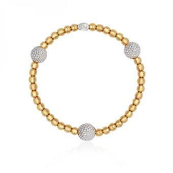Joma Jewellery Halo Silver And Gold Bobble Bead Bracelet 4046