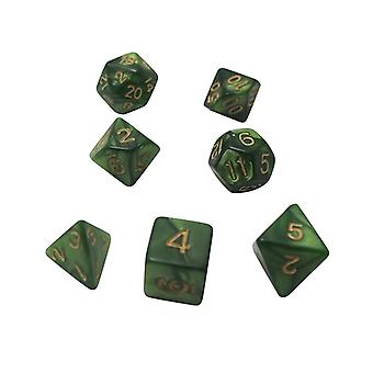 Tärningsset D4,d6,d8,d10,,d12,d20 färgglada tillbehör för brädspel,dnd, Rpg