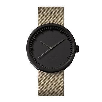 Leff Amsterdam LT72013 D42 Black Tube Wristwatch Cordura Strap