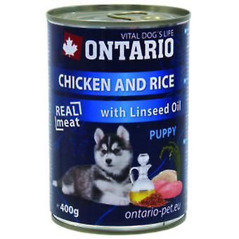 Ontario Puppy Chicken / Rice / Linseed Oil 400g (Dogs , Dog Food , Wet Food)
