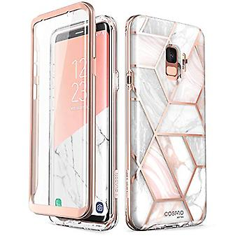 i-Blason Cosmo Series Designed for Galaxy S9 Case, Full-Body Bumper Protective Case with Built-in Screen Protector (Marble) - Compatible with Galaxy S9 (2018 Release) only
