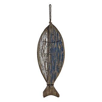 Figura Decorativa DKD Decoración del Hogar Madera Pescado (20 x 5 x 57 cm)