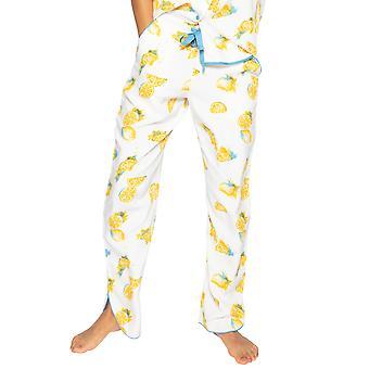 Cyberjammies Phoebe 4817 Women's White Lemon Motif Modal Pyjama Pant