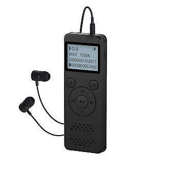 110 Hours long time 1536kbps digital voice recorder-password- timing automatic recording-voice activation-with mp3 play