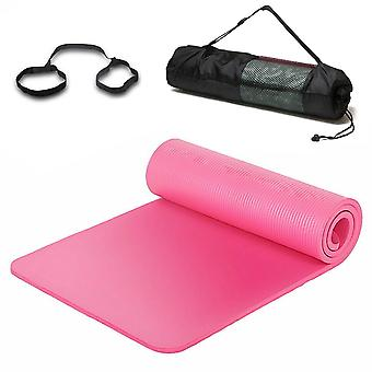 Yoga Mat 10mm Thick Non Slip Exercise Fitness Physio Pilates Gym Mat 185x80cm