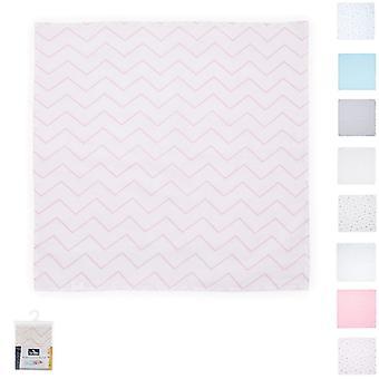 Manta de envoltura Lorelli, algodón de muselina manta para bebé, tamaño 80 x 80 cm, desde el nacimiento
