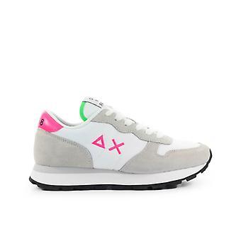 Sun68 Ally Solid Nylon White Fuchsia Green Sneaker