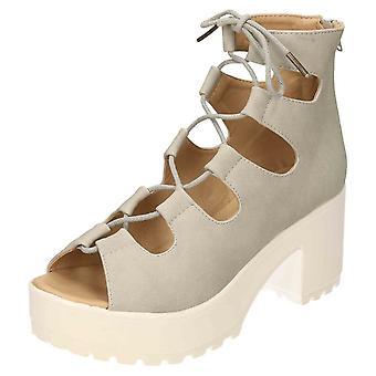 Koi Footwear Ankle Boot Platform Shoes Heel Peep Toe Chunky
