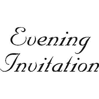 Evening Invitation Wood Mounted Stamp