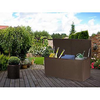Tuinbak opbergbox - 120x57,5x48 cm - 300 liter - bruin
