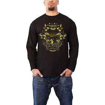 T Shirt Trench Scene Logo new Official Mens Black Long Sleeve