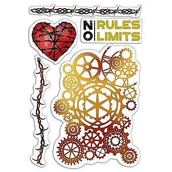 """Ciao Bella 4""""x6"""" Stamps - No Rules No Limits"""