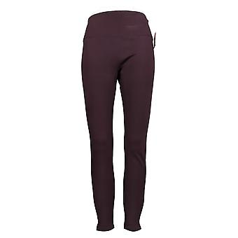 Spanx Leggings Ankle Length Ponte Hem Slit Purple A369380