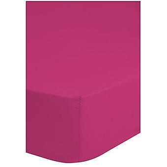 stretchbäddsark jersey 160/180 x 200 cm bomull rosa