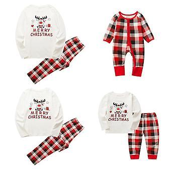 Noel Pijama Takımı, Ebeveyn-çocuk Takımı, Pamuklu Tişört