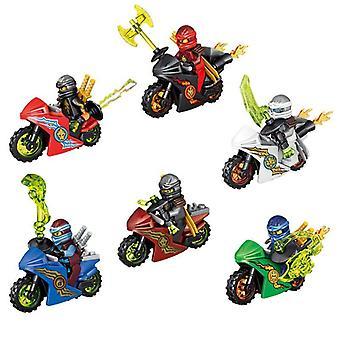 6 kappaletta Moottoripyörä Mini Hahmot