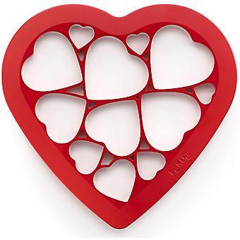 Lku Keksausstecher Puzzle Herzen, Kunststoff, Bunt, 24x26x8 cm