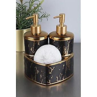 Distributeur liquide de savon avec l'éponge