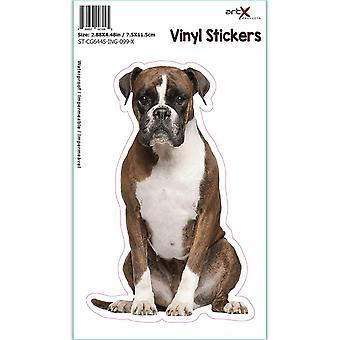 Gift Sticker: I Like Boxers Dog