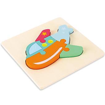 3D dřevěné hádanky hračky děti rané vzdělávání intelektuální skládačka dárek pts132