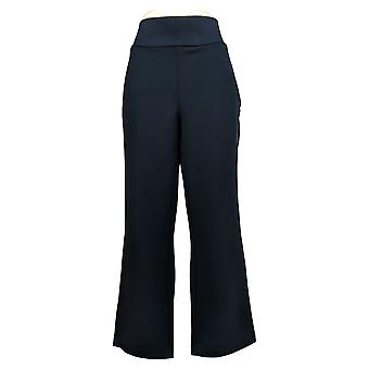 DG2 af Diane Gilman Women's Petite Pants Ponte Boot-Cut Blue 732054