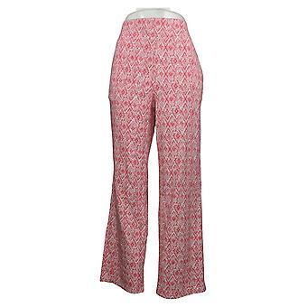 Belle By Kim Gravel Women's Pants TripleLuxe Knit Pull-On Pink A347153