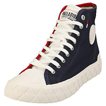 Palladium Ace Cvs Mid Unisex Casual Boots in Navy White Red