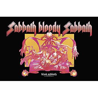 Black Sabbath Poster Sabbath Bloody Sabbath Official 70cm x 106cm Textile Flag