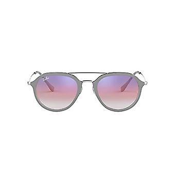 راي بان جونيور 0RB4253 6337S5 50 النظارات الشمسية، رمادي (أعلى رمادي على ترانس)، للجنسين الكبار