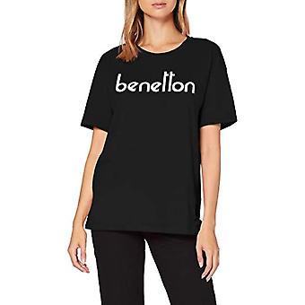 United Colors of Benetton 3U29E16A9 T-shirt, Black (Black 100), S Woman