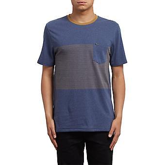 Volcom Threezy Pocket Lyhythihainen T-paita syvän sininen