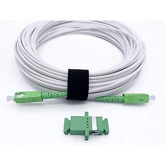 ® - Glasfaserkabel SC/APC auf SC/APC Simplex Singlemode, Lieferung mit LWL Adapter/Kupplung für