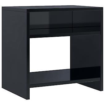 vidaXL Yöpöytä Korkea kiilto Musta 40 x 30 x 40 cm Lastulevy
