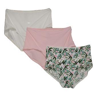 Rhonda Shear Plus Panties 3-Pack Smoothing Brief Pink  741378