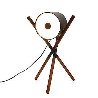 Table Lamp LED 220-380V Wooden Acrylic Decorative Lamp, Black