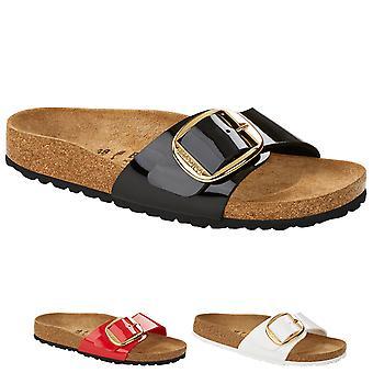 Birkenstock Naisten Madrid Big Buckle Birko-Flor puuttuu slip-on sandaalit