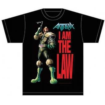 Anthrax I Am The Law Mens Black T-Shirt: Small